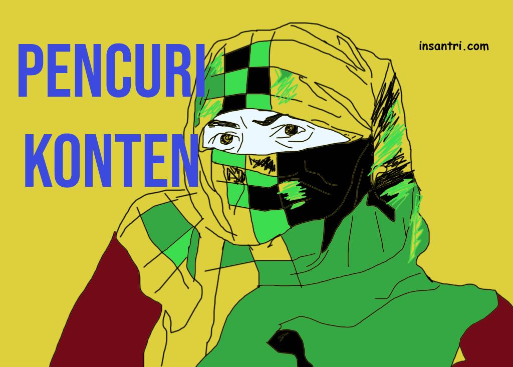 pencuri konten plagiarisme sariq ninja sarung